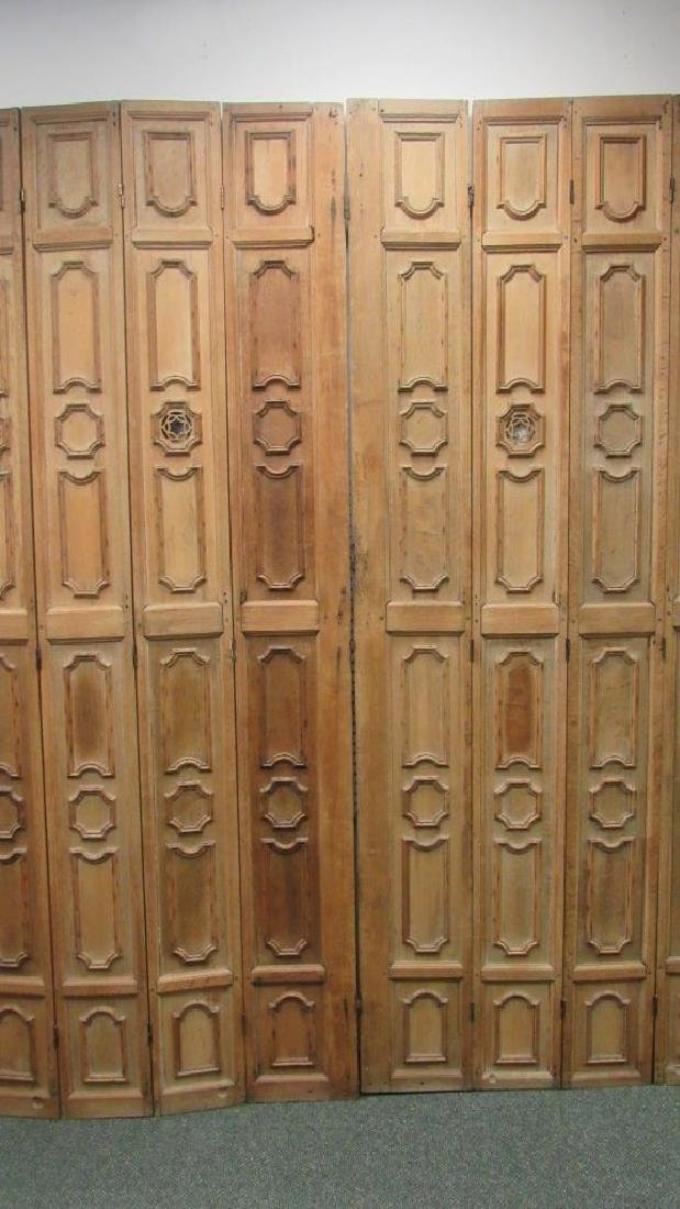 Oaked Carved Panel Screen