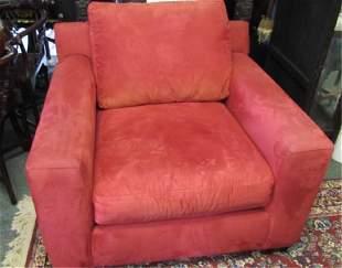 Vintage Bright Red Velvet Chair