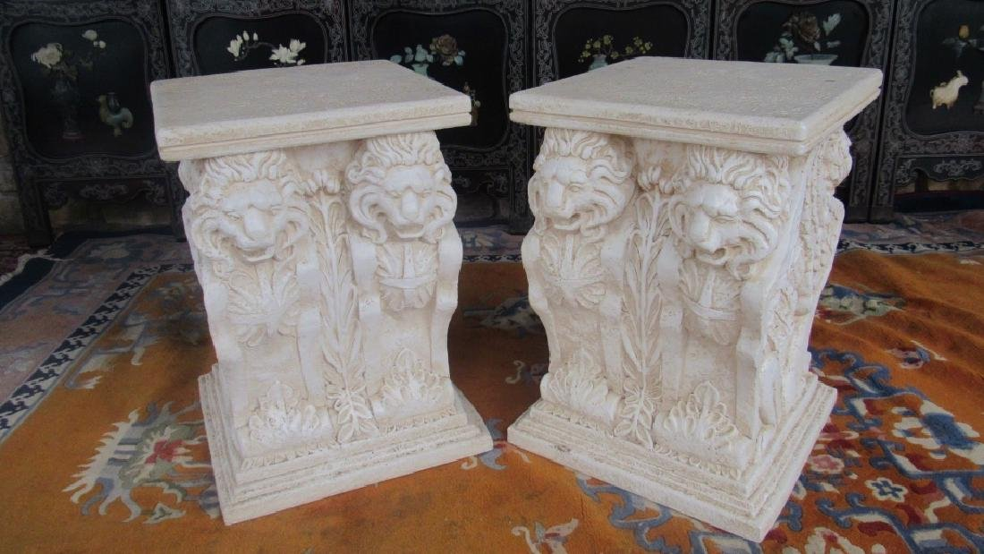 Pair of Plaster Plant Stands