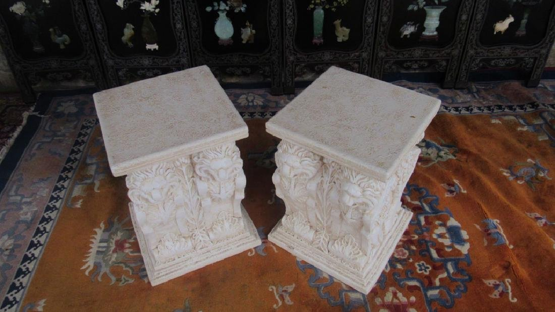 Pair of Plaster Plant Stands - 3