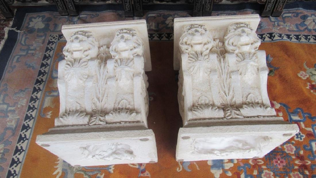 Pair of Plaster Plant Stands - 5