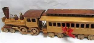 Vintage Hand Carved Train Set