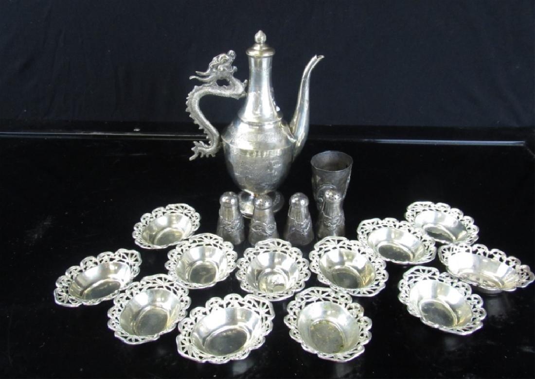 Set of Sterling Silver Tea Set