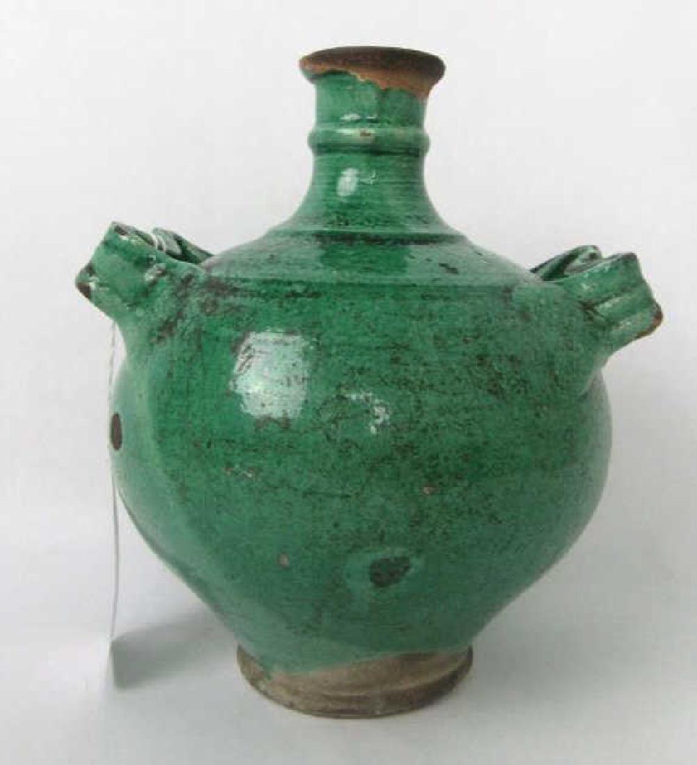 11th Century Glazed Stoneware Jug with Handles - 2
