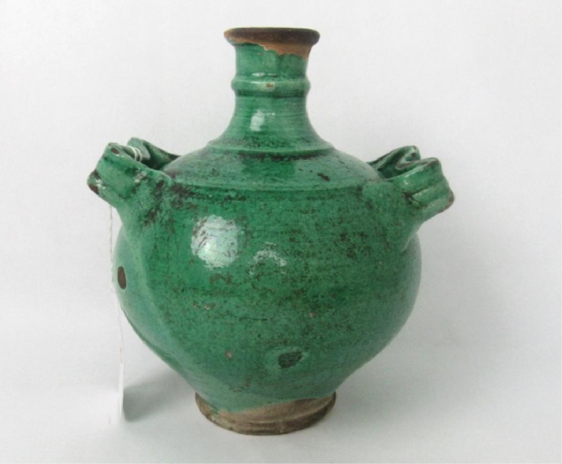 11th Century Glazed Stoneware Jug with Handles - 3