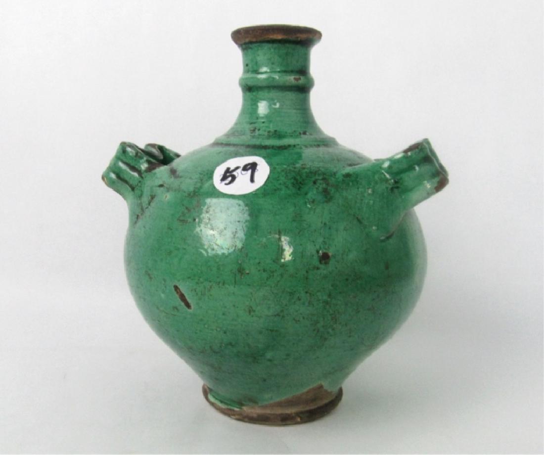11th Century Glazed Stoneware Jug with Handles - 6