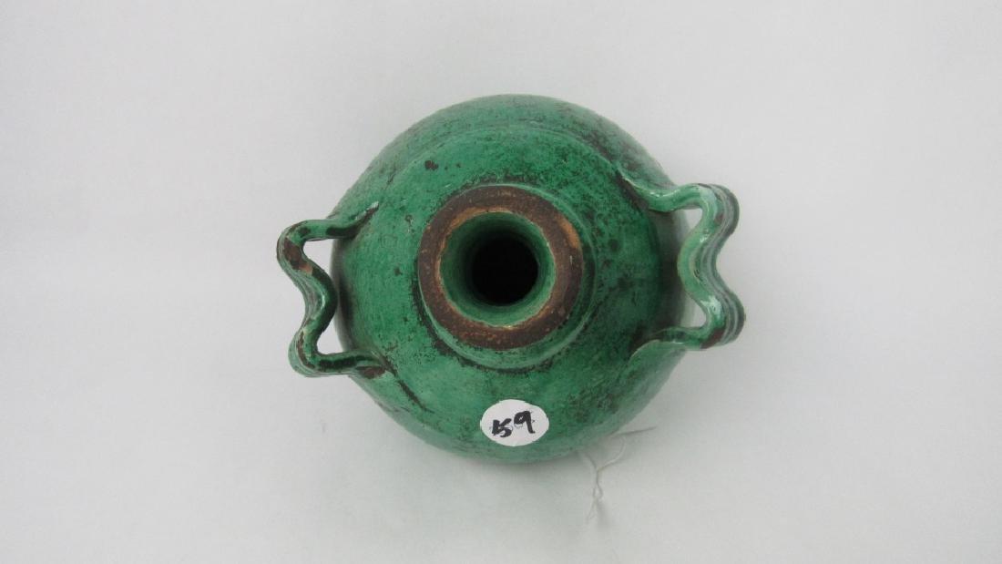 11th Century Glazed Stoneware Jug with Handles - 8