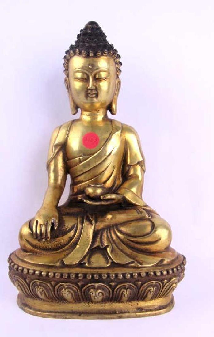 Chinese Gilded Bronze Buddha Statue