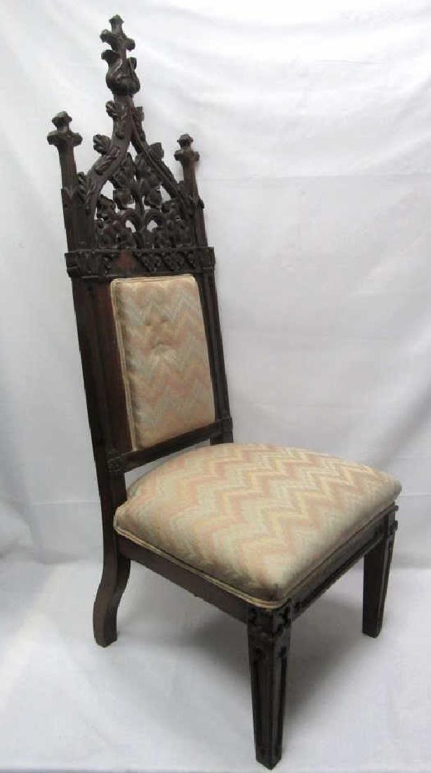 Mahogany Wooden Cushioned Chair