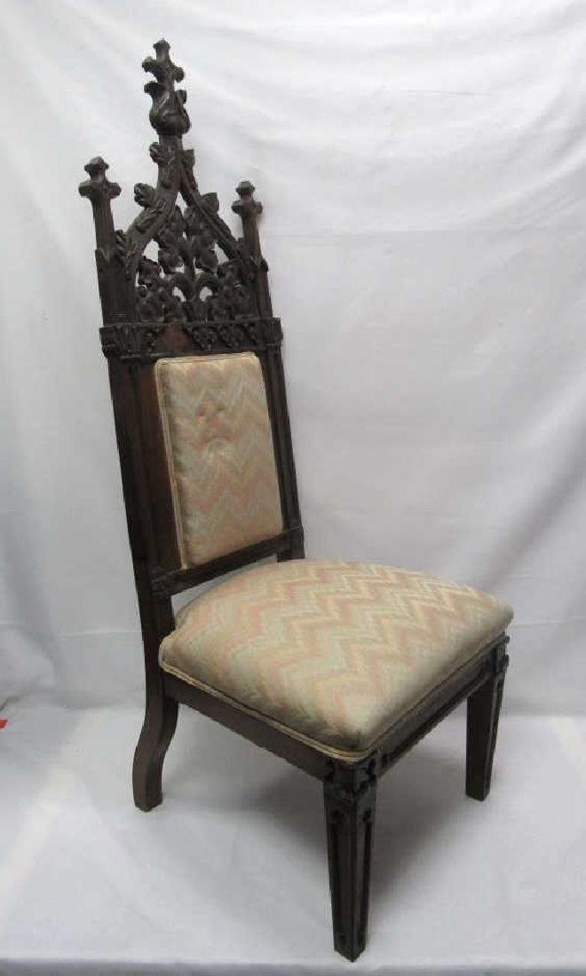 Mahogany Wooden Cushioned Chair - 2