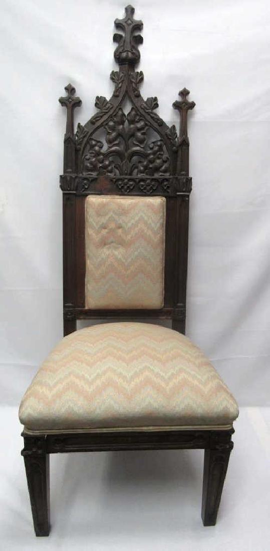 Mahogany Wooden Cushioned Chair - 3