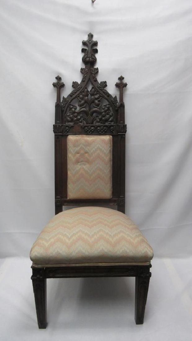 Mahogany Wooden Cushioned Chair - 4