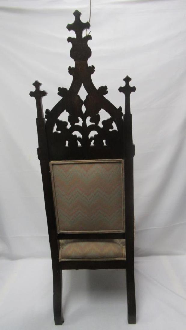 Mahogany Wooden Cushioned Chair - 5