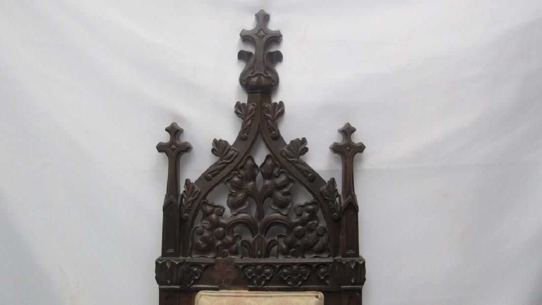 Mahogany Wooden Cushioned Chair - 6