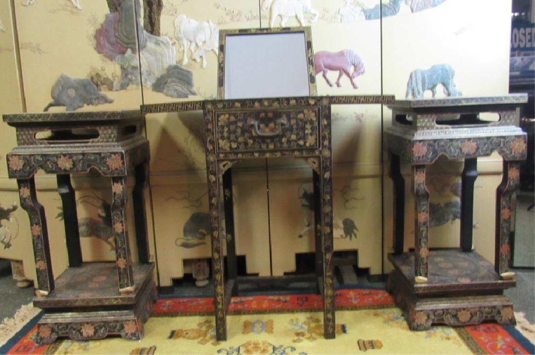 Set of 3 Lacquer Table Set