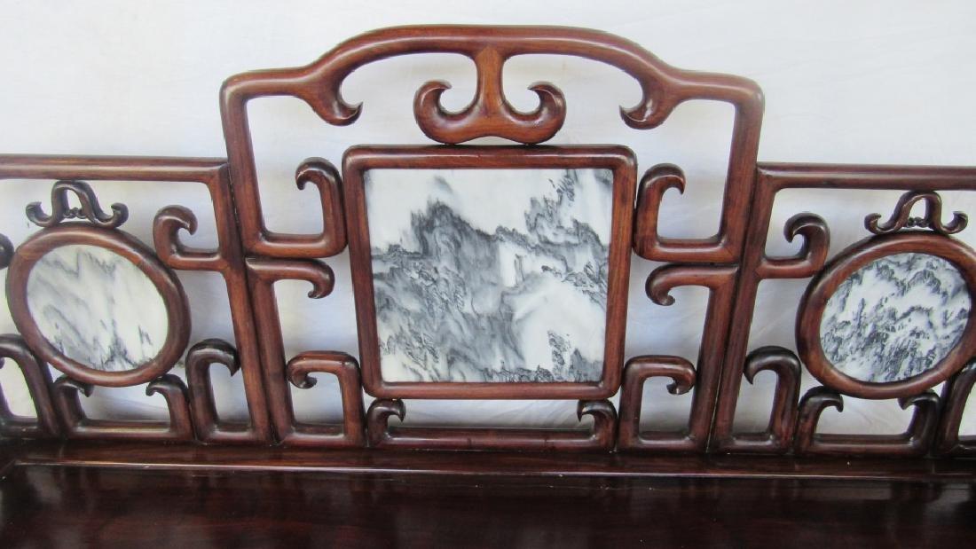 19th Century Chinese Huangua Hainan Marble Bench - 10