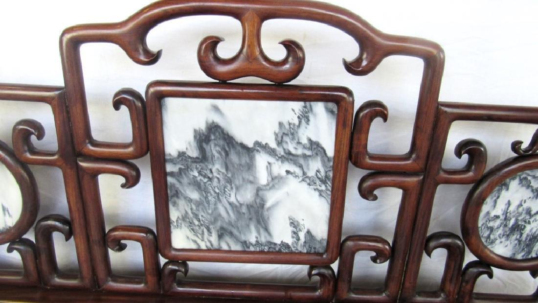 19th Century Chinese Huangua Hainan Marble Bench - 5