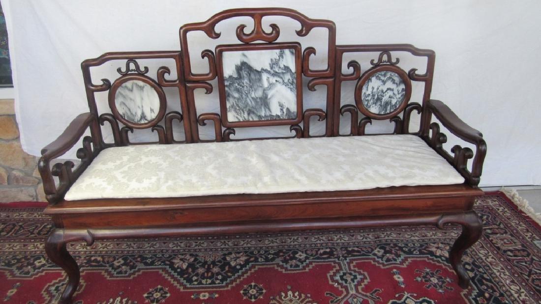 19th Century Chinese Huangua Hainan Marble Bench - 9