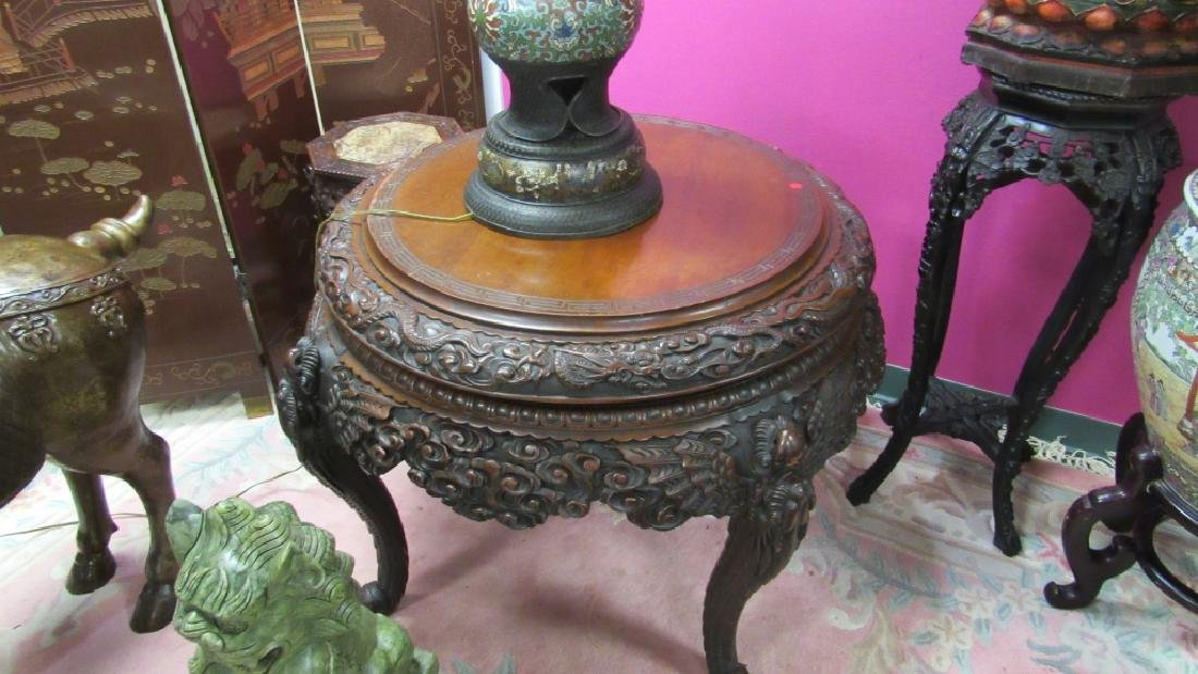 Wood Carved Table - 3