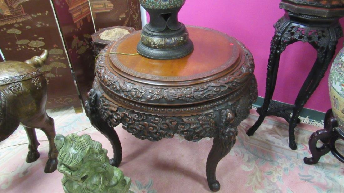 Wood Carved Table - 4