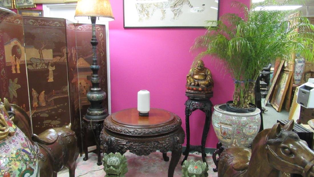Wood Carved Table - 5