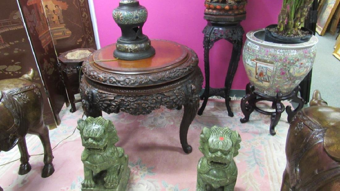 Wood Carved Table - 8