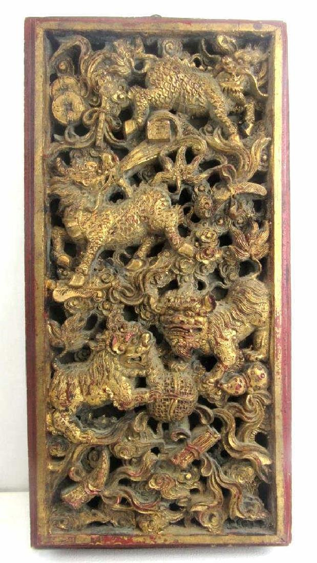 Gold Gilded Wood Carving