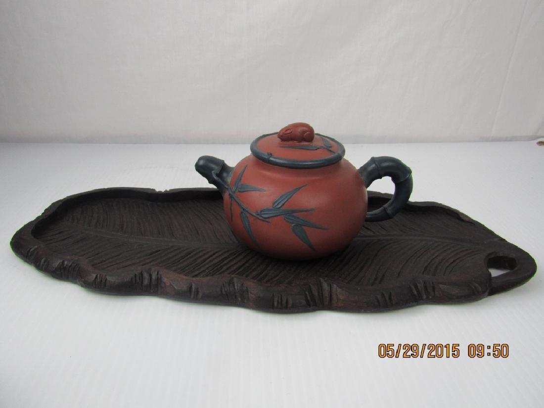 Old Chinese YiXing Zisha Teapot; Marked