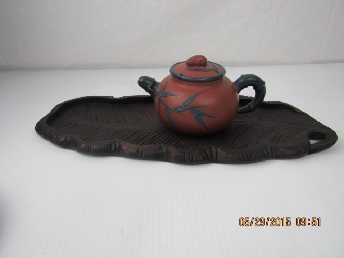 Old Chinese YiXing Zisha Teapot; Marked - 2