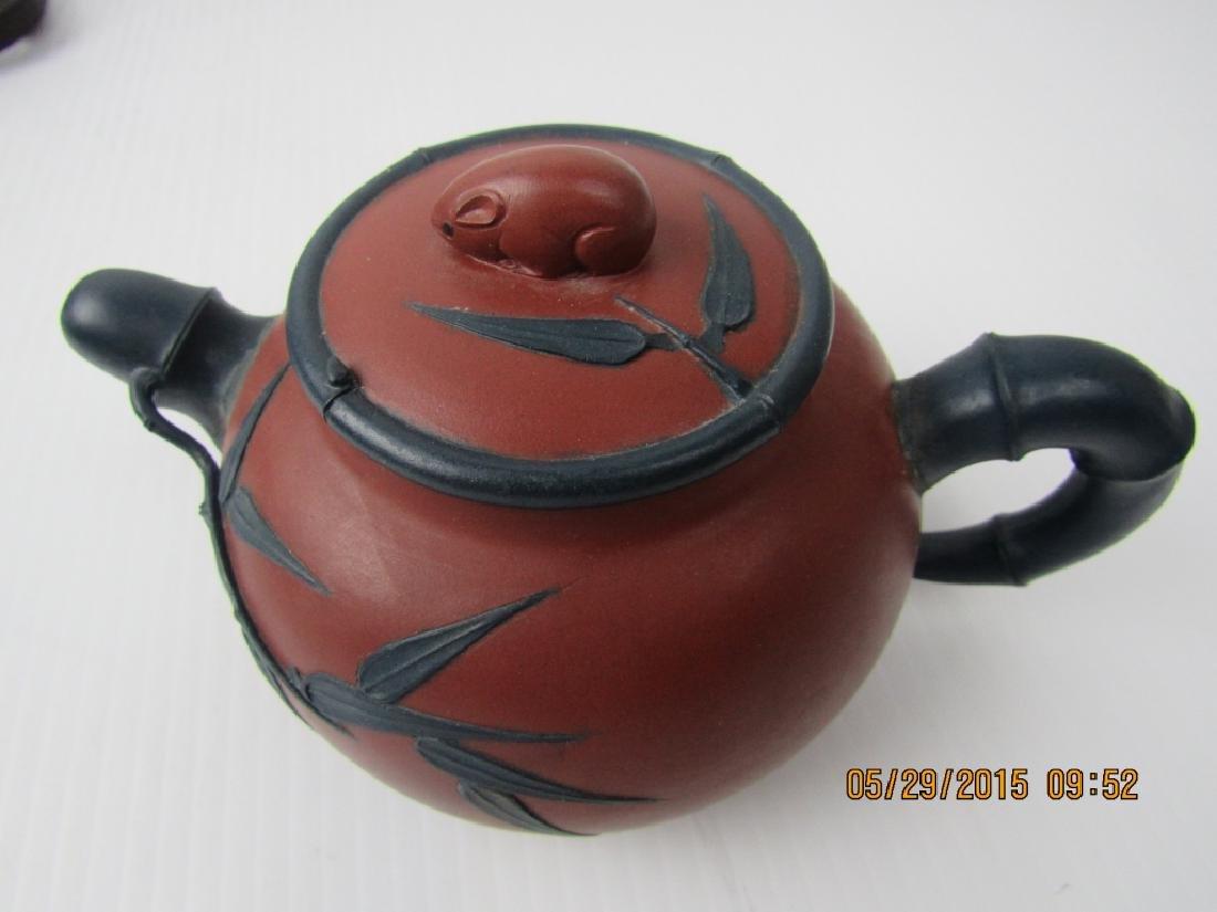 Old Chinese YiXing Zisha Teapot; Marked - 5
