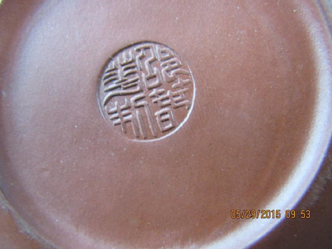 Old Chinese YiXing Zisha Teapot; Marked - 7