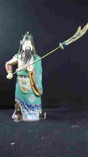 Cloisonne Figurine of Guan Gong