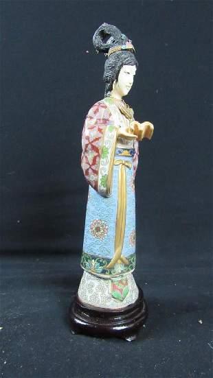 Cloisonne Figurine of Woman
