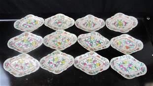 Set of Qing Dynasty Porcelain Fruit Plates