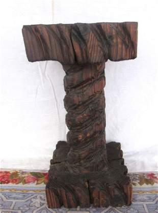Vintage Wood Pedestal