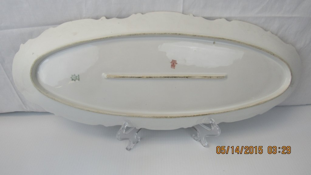 Set of 8 French Limoges Porcelain Plates with Fish