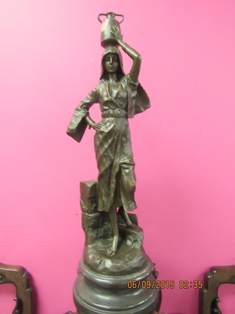"""French Bronze Sculpture """"Rebecca"""" After G. Leroux"""