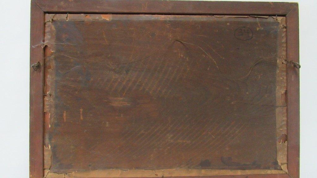 Old Framed Charcoal Landscape Drawing - 3