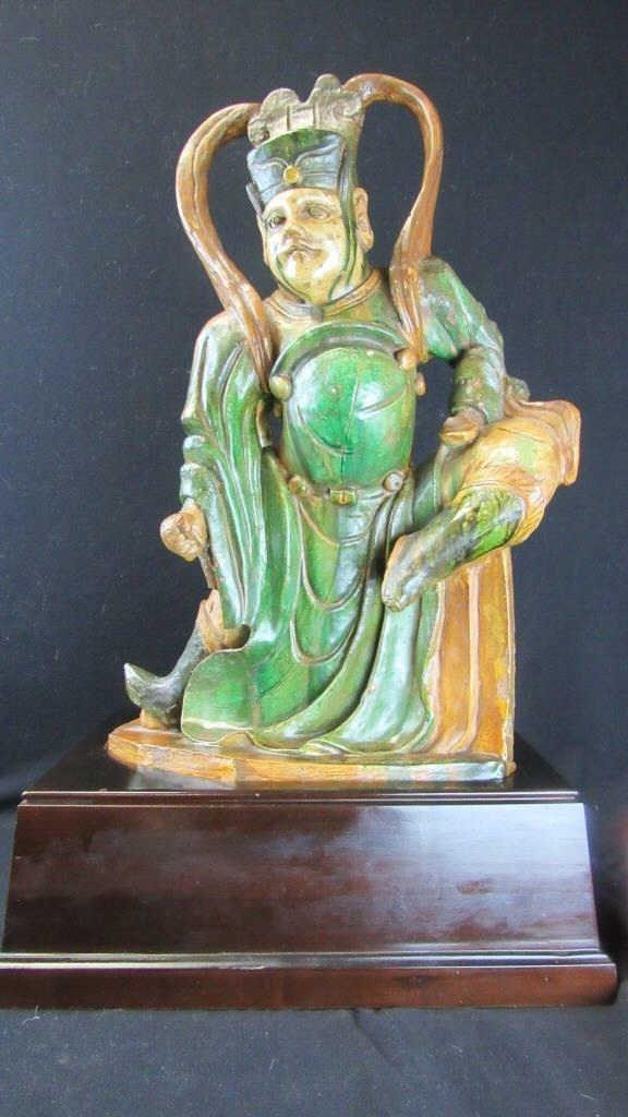 God Statue on Sandalwood Base