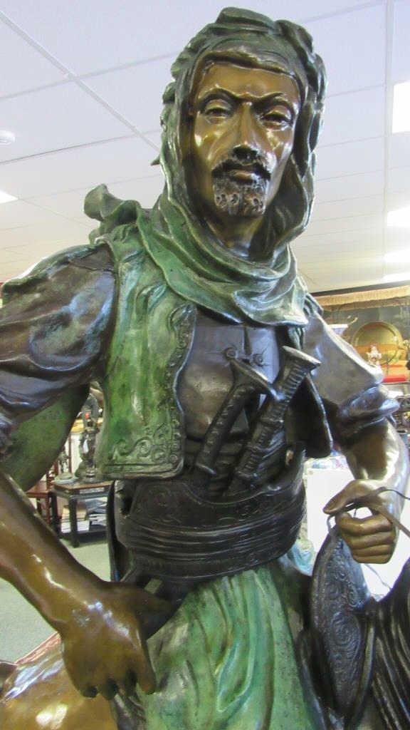Large Bronze Equestrian Statue