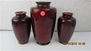 Glass Coated Brass Vases