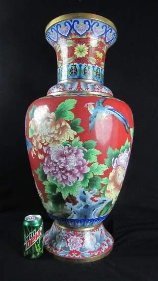 Red Closionne Vase