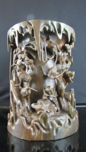 Chinese Sandal Wood Carving