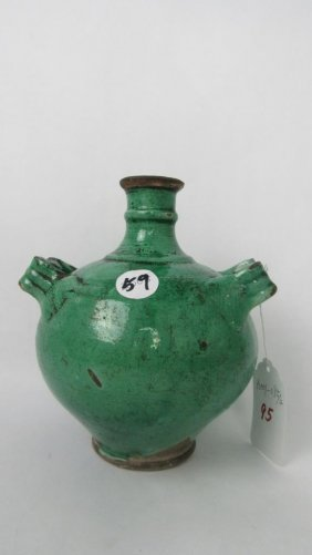 Green Glazed Pottery Jug