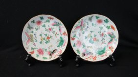 Pair Of Famille Rose Plate