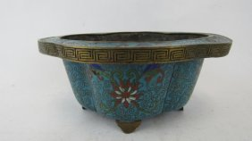 Ming Dynasty Style Cloissonne Footed Bowl