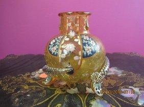 Blown Glass Footed Jar