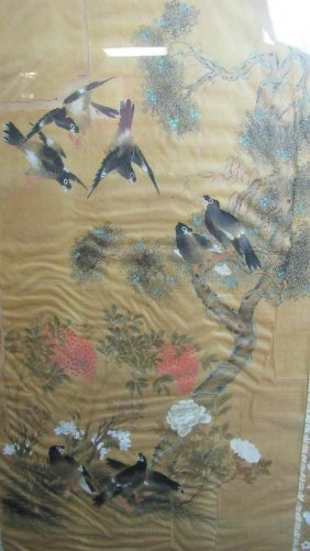 Qing Dynasty Silk Painting
