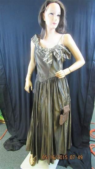 Vintage 1950s Beautime Formals Dress & Mannequin
