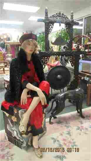 Vintage Clothing and Chinese Wood Box Lot 7pcs.